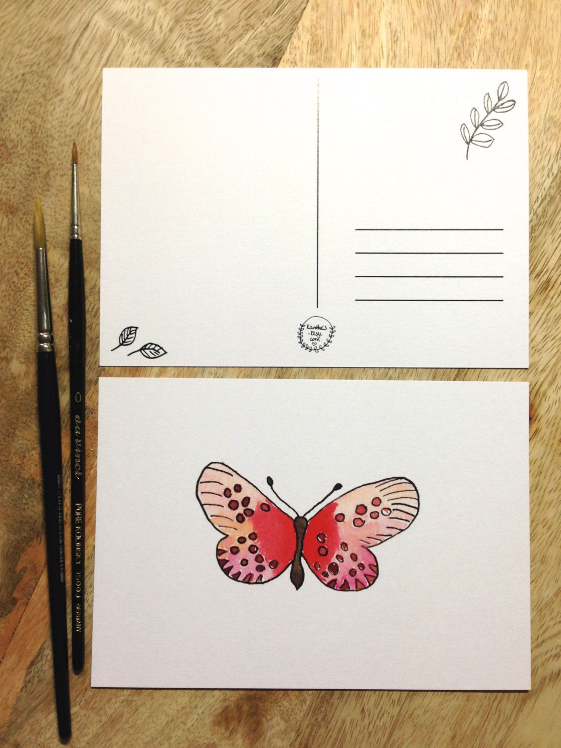 Butterfly Postcard Blanco Quote Love Friends Family