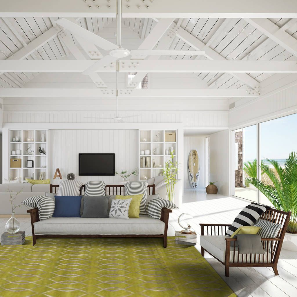 Versailles Green in a modern beach house. | The Rug Establishment ...