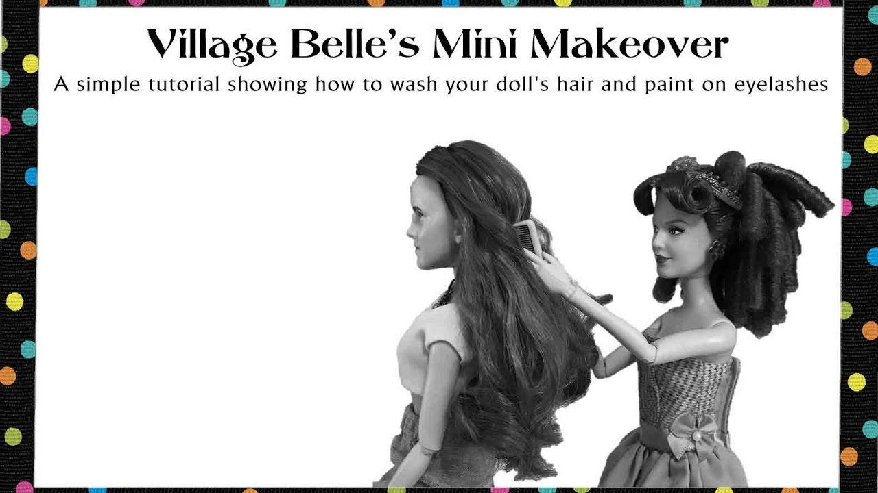 """Simple Customizations To Disney's """"Village Belle"""" Doll--A video showing how we restyled Belle's ..."""