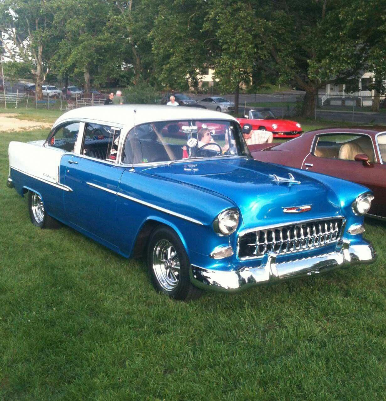 1955 Chevrolet Two Door Chevroletvintagecars With Images