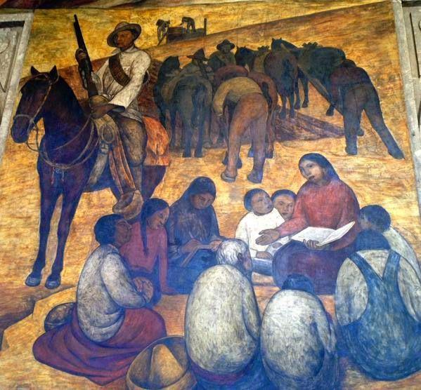 Mural de diego rivera en la secretar a de educaci n for Arte mural en mexico