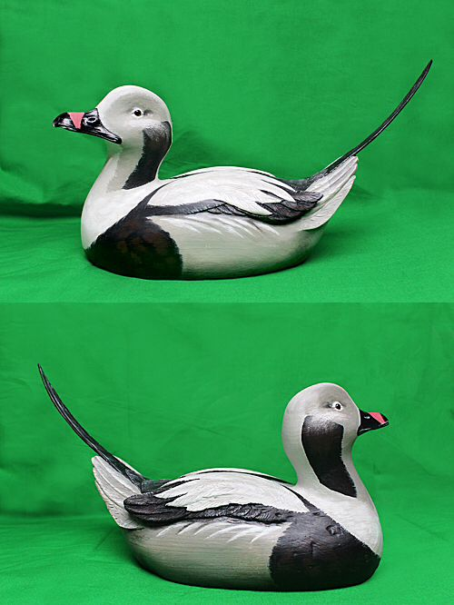Clay Boone's carved wooden decoy