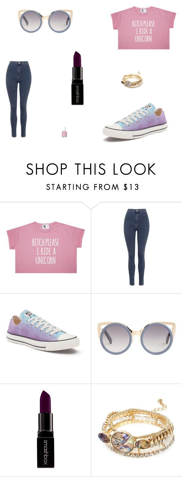 """Untitled #6636"" by mie-miemie ❤ liked on Polyvore featuring Topshop, Converse, Erdem, Smashbox, River Island and Essie"
