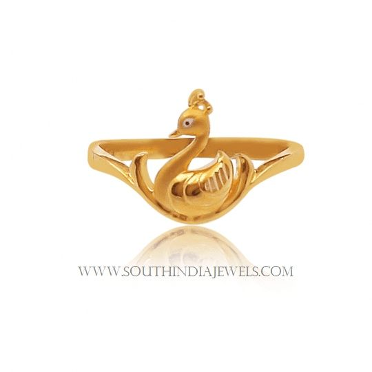 Gold Ring Design For Female Without Stone South India Jewels Gold Ring Designs Ring Design For Female Ladies Gold Rings