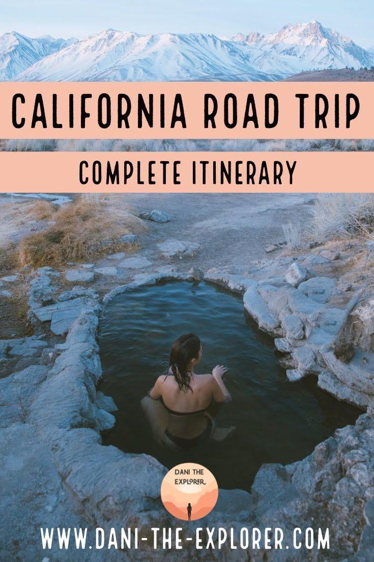 The Best California Road Trip Itinerary & Hot Springs #westcoastroadtrip