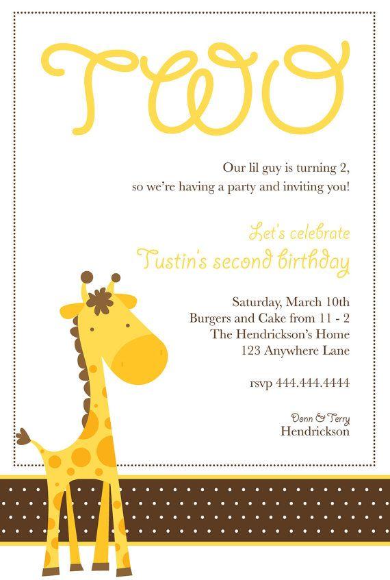Giraffe Birthday Party Invitation by LovingEweLane on Etsy, $18.00 ...