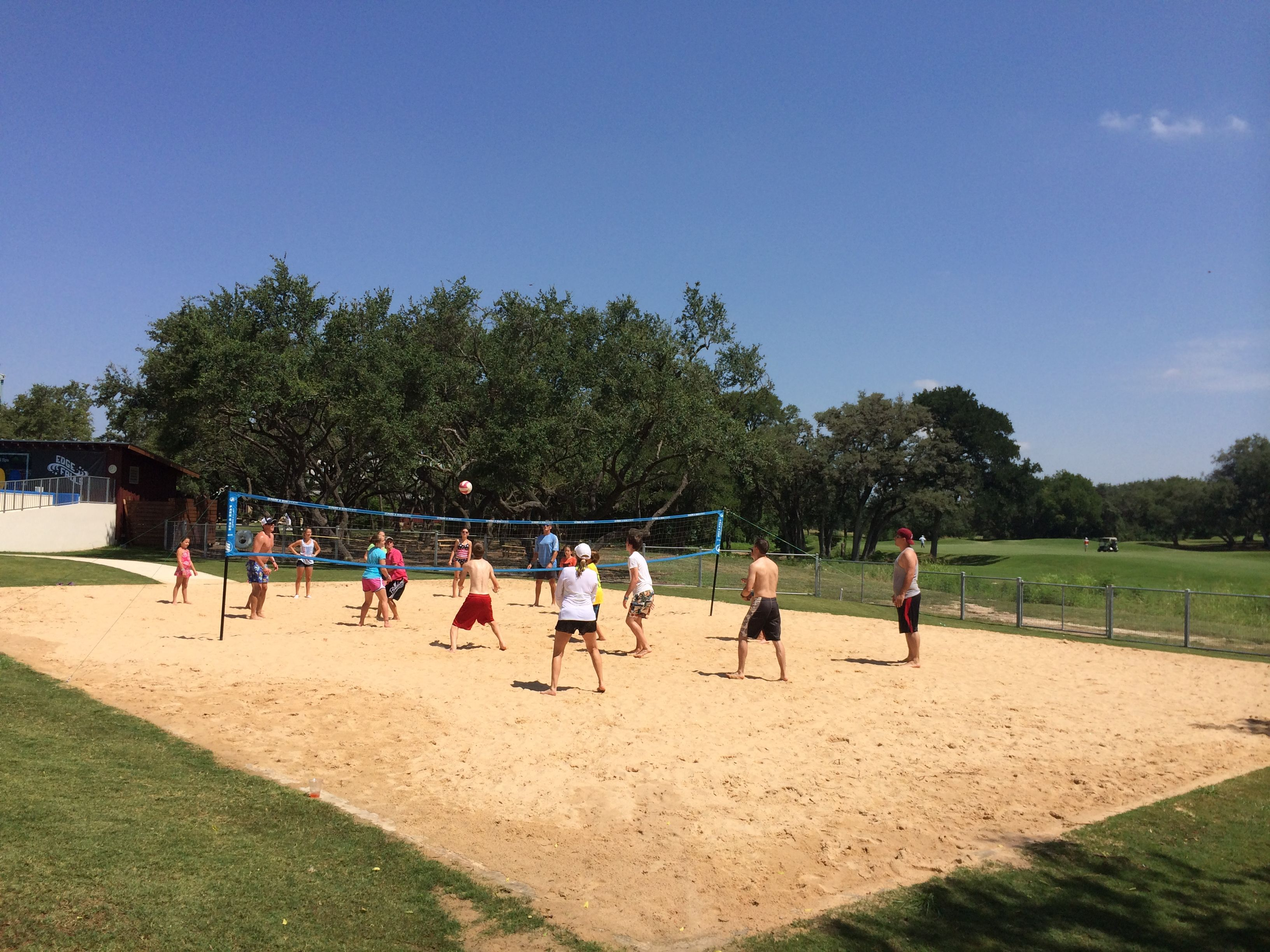 Family Volleyball At Hyatt Regency Hill Country Resort And Spa Hill Country Resort Water Slides Hill Country