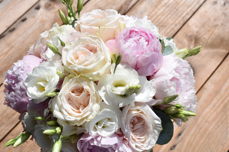 Bouquet De Mari E, Mariage, Mari E, Pivoine, Pionies, Lisianthus,