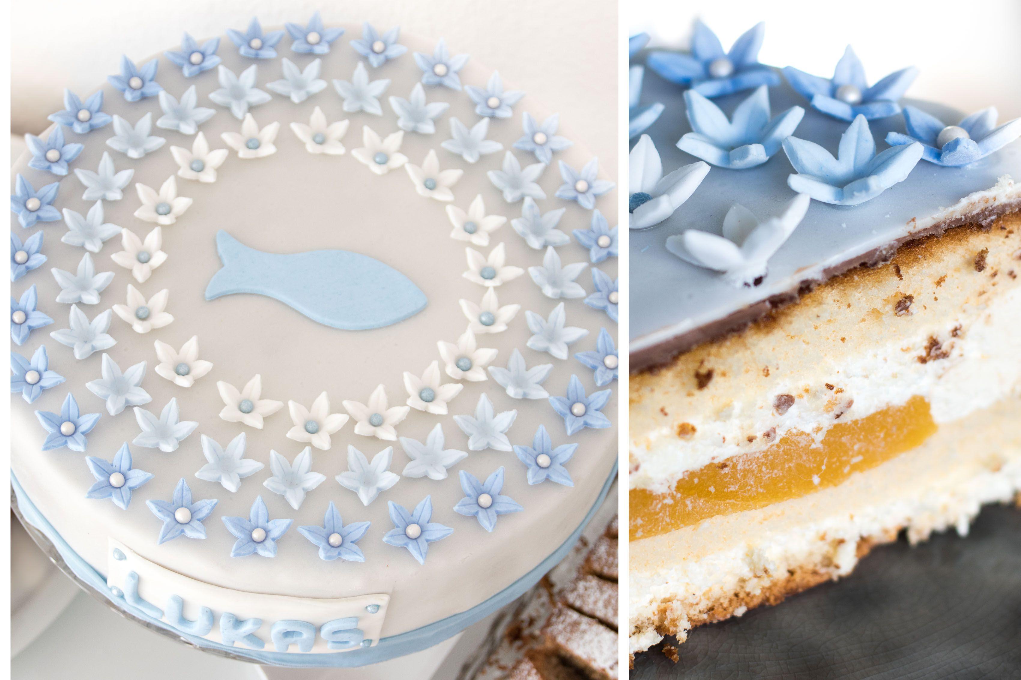 Kommunion Torte Fur Jungs Selbstgemacht Elf19 De Kommunion Torte Torte Fisch Kommunion Kommunionkuchen
