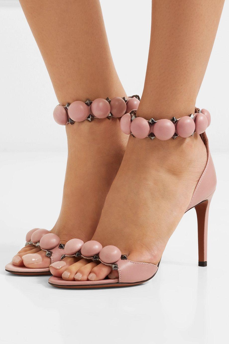 64caabf88d2 Alaïa - Bombe 90 studded leather sandals | I Love Net-a-Porter ...