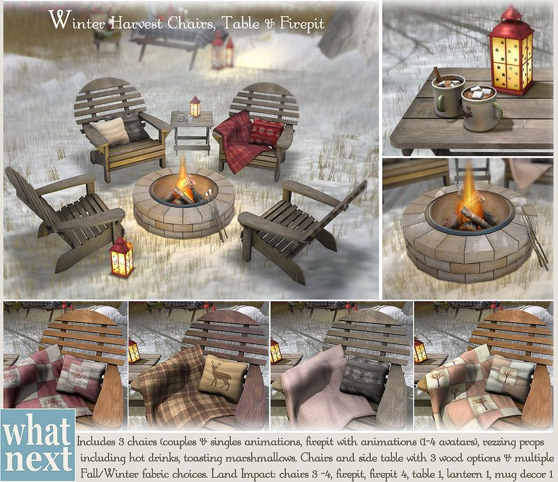 {what next} Winter Harvest Chairs and Firepit Set