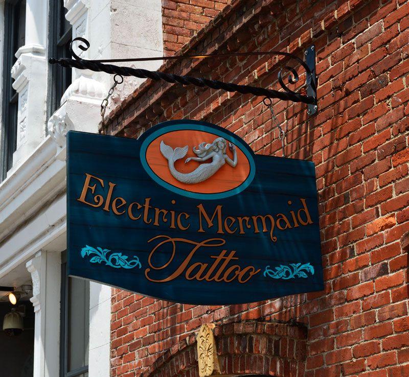 Electric Mermaid Tattoo Studio Located In Fernandina Beach Fl Also Known As Amelia Island Fl Boats Some Of The Fernandina Beach Amelia Island Mermaid Tattoo