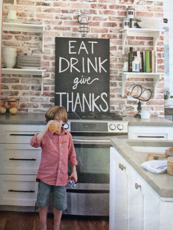 faux brick accent wall - google search | kitchen makeover