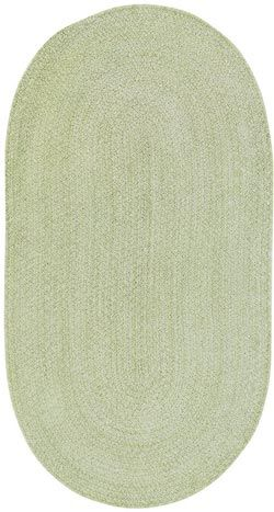 Spring Bouquet Braided Rug in Fern from Capel - 0660