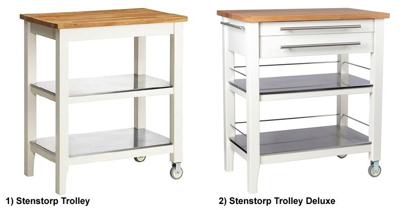 Stenstorp Kitchen Trolley Deluxe | Kitchen trolley, Ikea hackers and ...