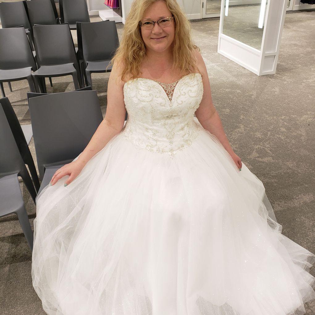 Beaded Illusion Plus Size Ball Gown Wedding Dress David S Bridal Davids Bridal Wedding Dresses Ball Gowns Wedding Ball Gown Wedding Dress [ 1020 x 1020 Pixel ]