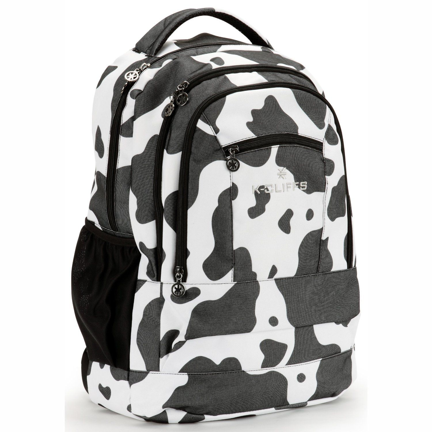 Cow Print Premium Quality Student Backpack