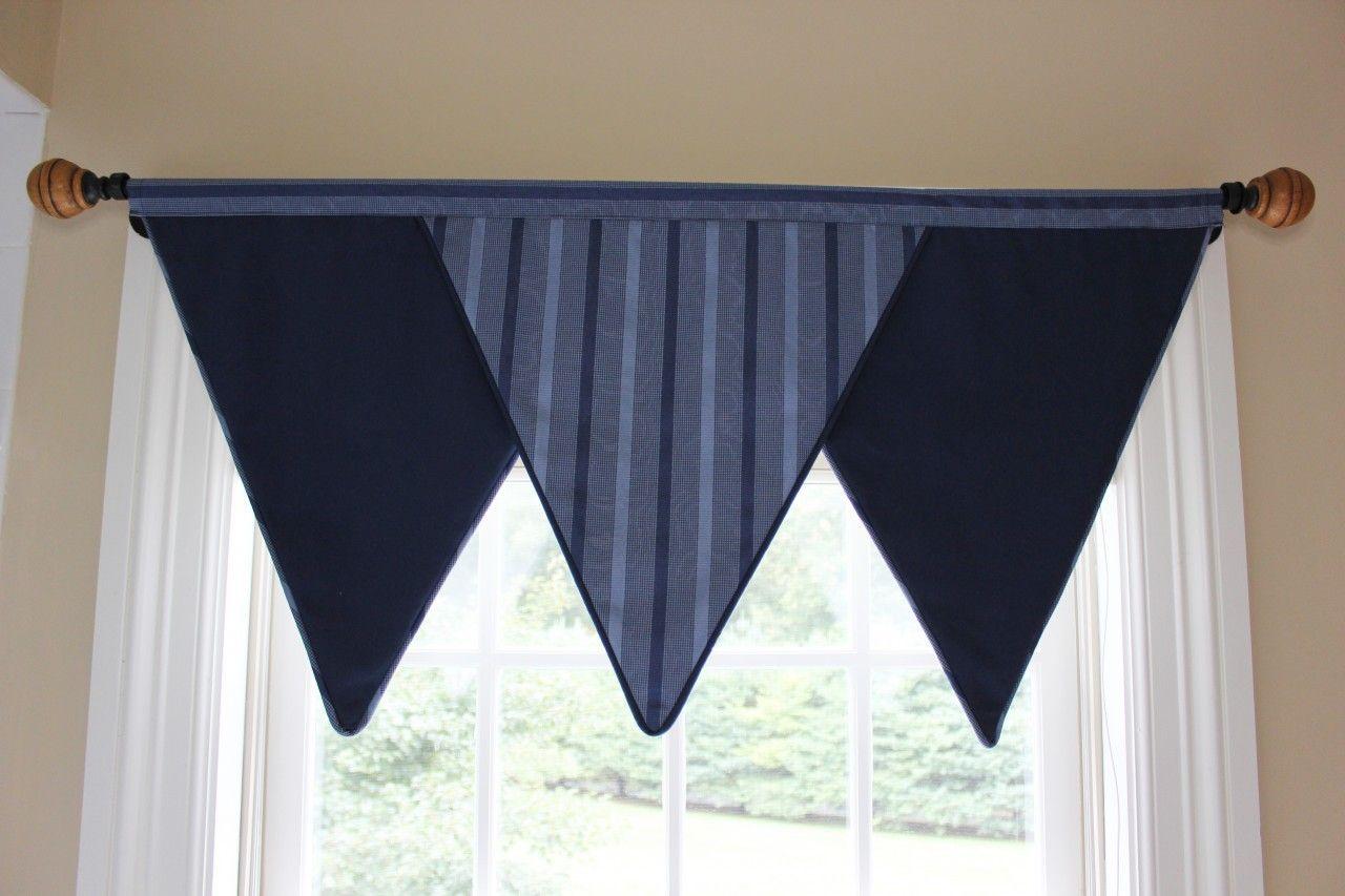 Triangle Valance for Boys Room | Curtains | Pinterest | Valance ...