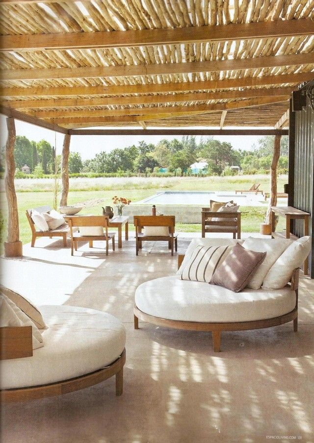 Revista living mesopotamiaba for the home pinterest for Diseno de muebles de jardin al aire libre