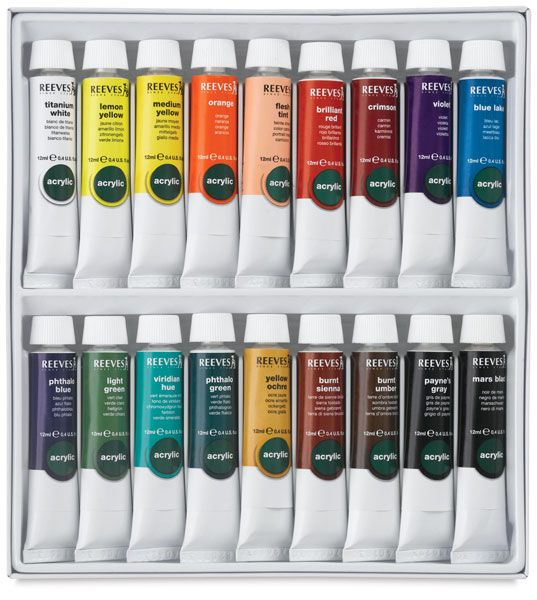 Reeves Acrylic Painting Sets In 2020 Watercolor Paint Set