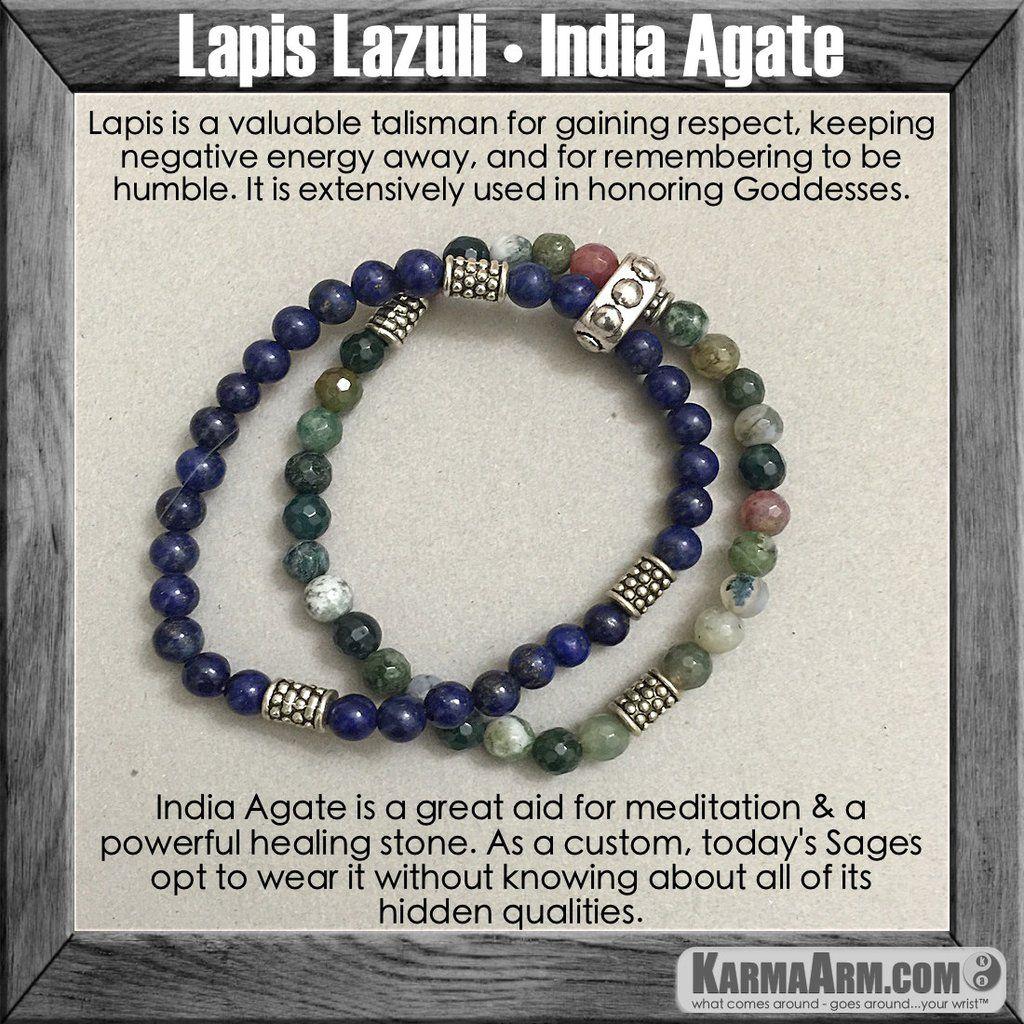 Bracelets for Men & Women I Luxury Yoga Jewelry.  Lapis India Agate. #love #charm  #healing #zen #men's #bracelets #women's #lucky #buddhist #buddha #aura #fitness #luck #luxury #power #energy #crystal #motivate