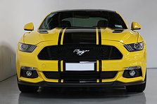 2016 Ford Mustang Gt V8 Triple Yellow Black Roof With Black Stripes And Roush Appearance Team Hutchinson Ford Ford Mustang Mustang 2016 Mustang Gt