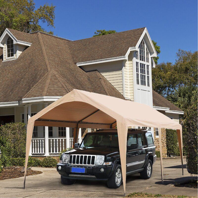 Domain Outdoor Carport 10 Ft. W x 20 Ft. D Steel Party