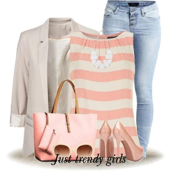 creamy blazer outfit, Spring work outfits for women http://www.justtrendygirls.com/spring-work-outfits-for-women/