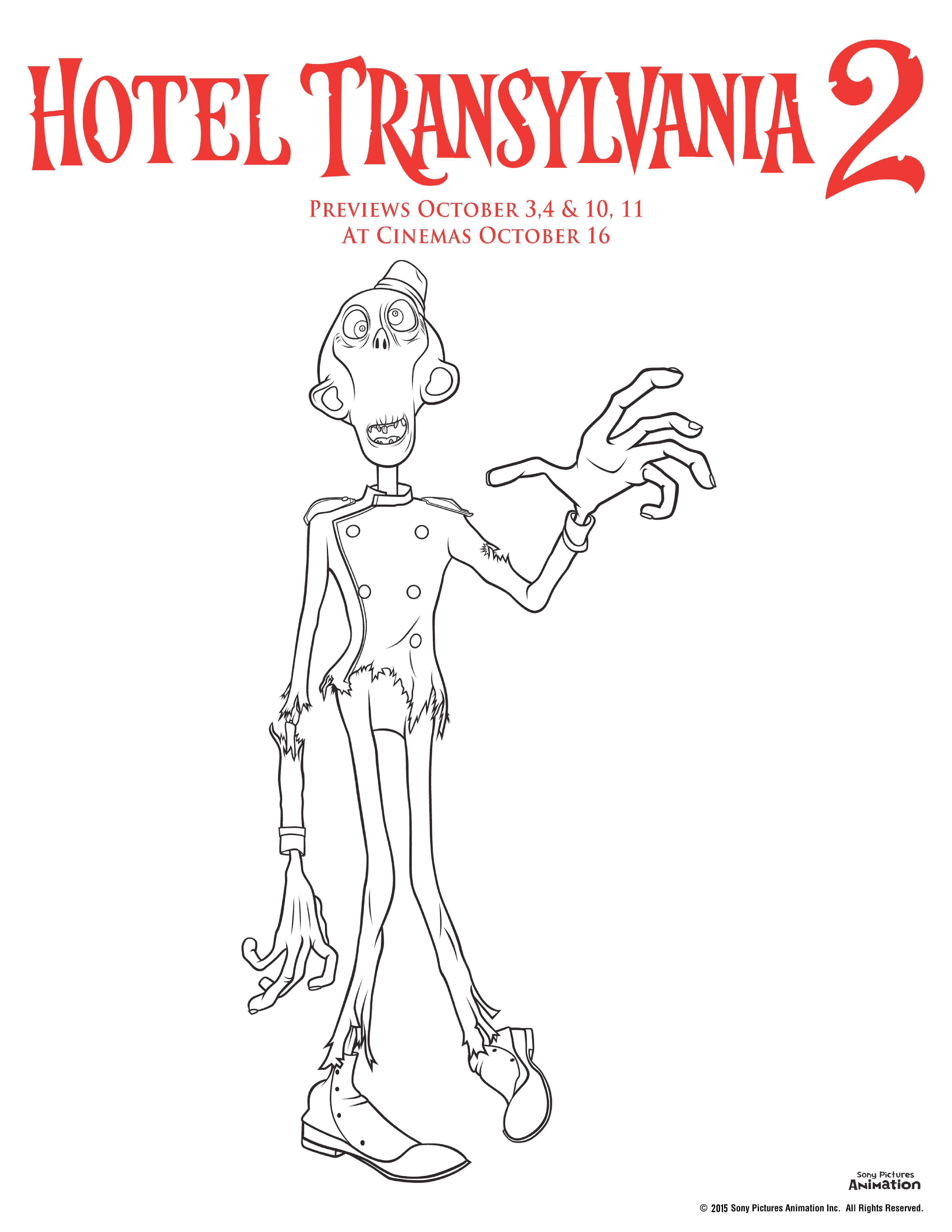 Colouring pages hotel transylvania - Hotel Transylvania Colouring Pages