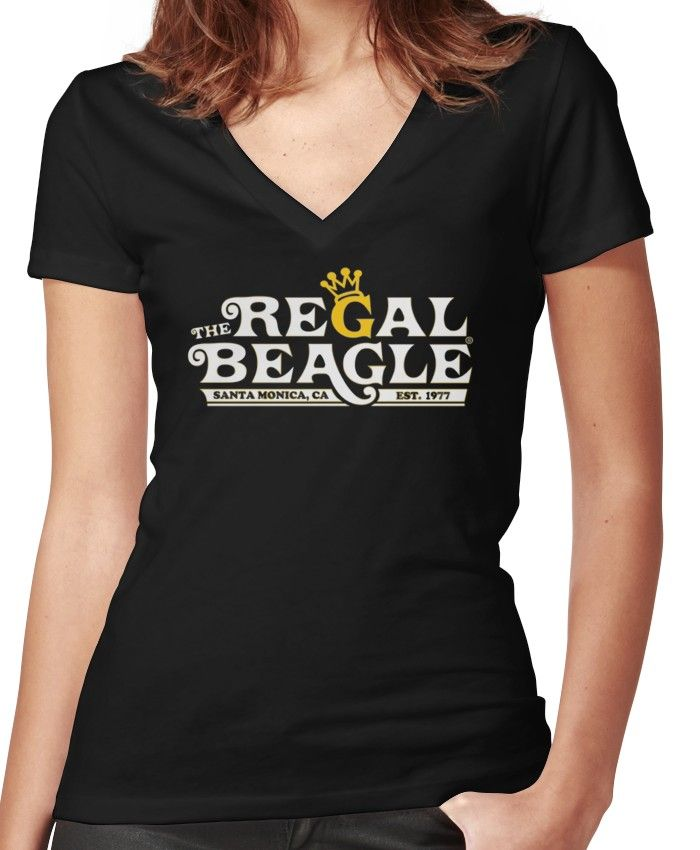 The Regal Beagle Women S Fitted V Neck T Shirt T Shirt