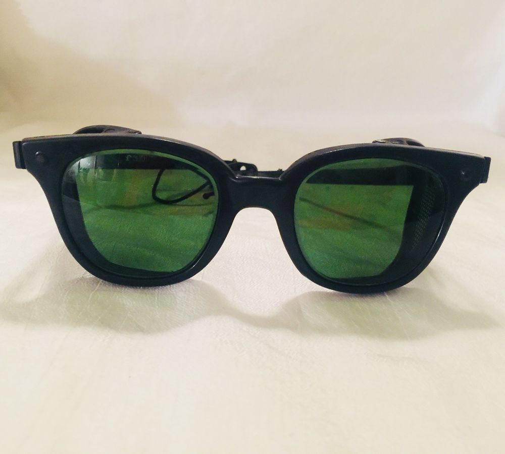c7929986640 Vintage BLACK Safety SUNGLASSES w  Mesh Sides w  Back Head Safety Strap  Attached  fashion  clothing  shoes  accessories  vintage   vintageaccessories (ebay ...