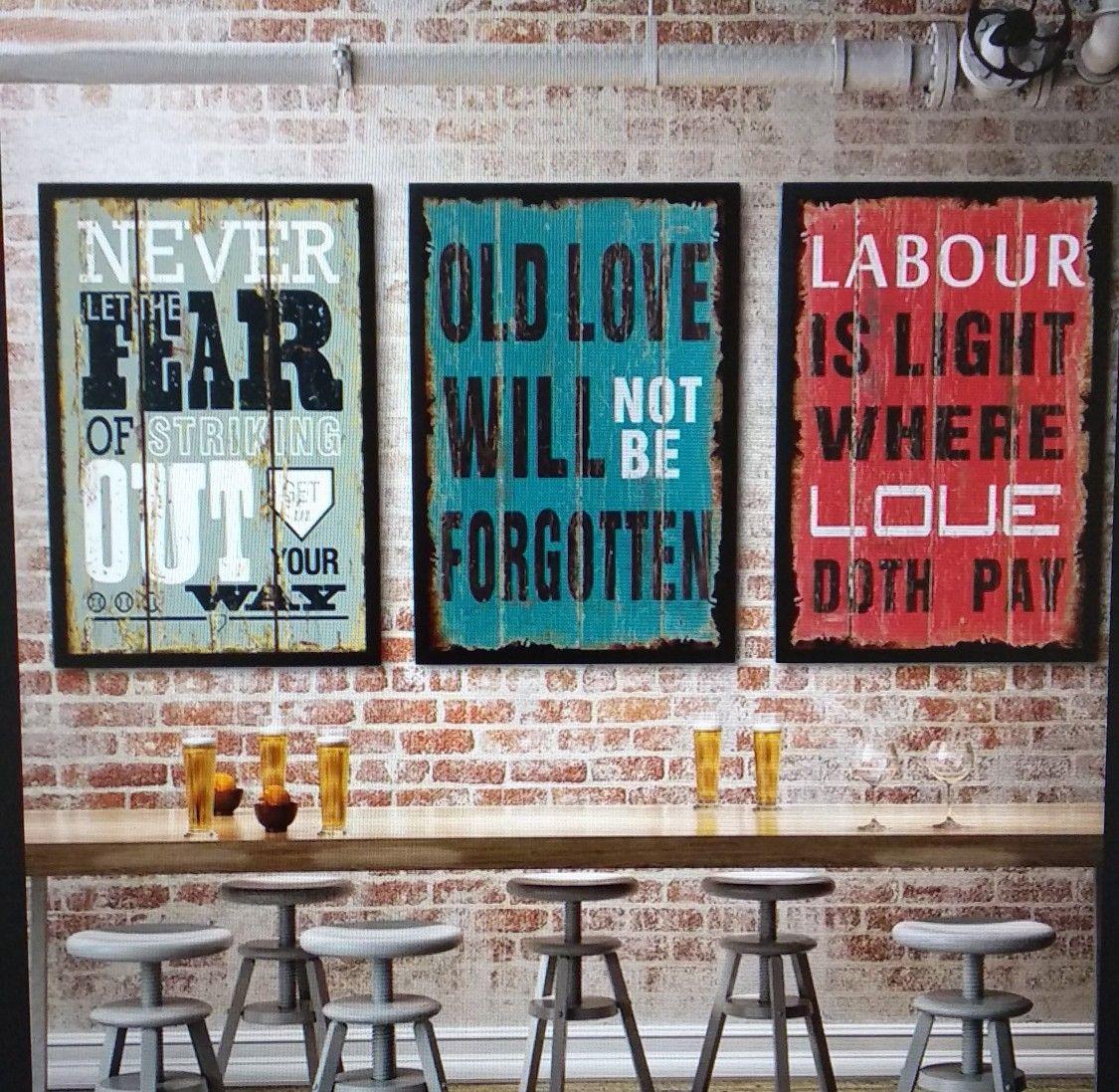 плакаты в интерьере лофт