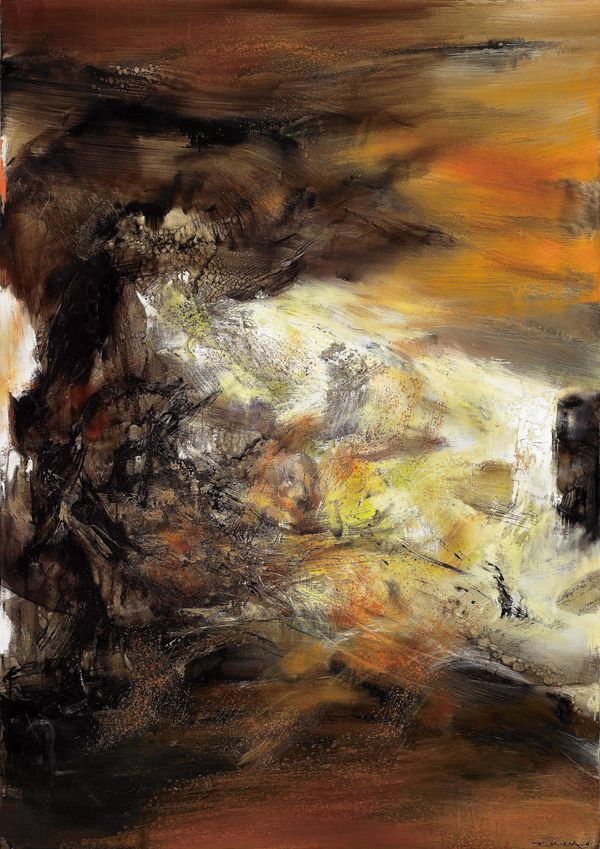 Zao Wou Ki What Is It Abstract Art Images Abstract Art