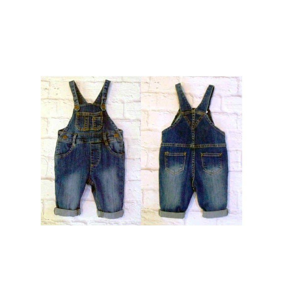 Smart Baby Dark Blue Jeans Overall Celana Bayi Dan Anak Baju Kaos Singlet 2 Tahun 6 Pcs