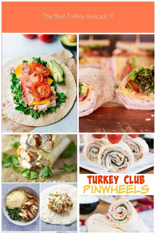 The BEST Turkey Avocado Ranch amp Bacon CLUB WRAPS Easy healthy delicious - - The BEST Turkey Avocado