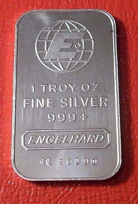 Engelhard Commercial Bar Large E 1 Oz 999 Silver Very Nice Commercial Bar Silver Silver Prices