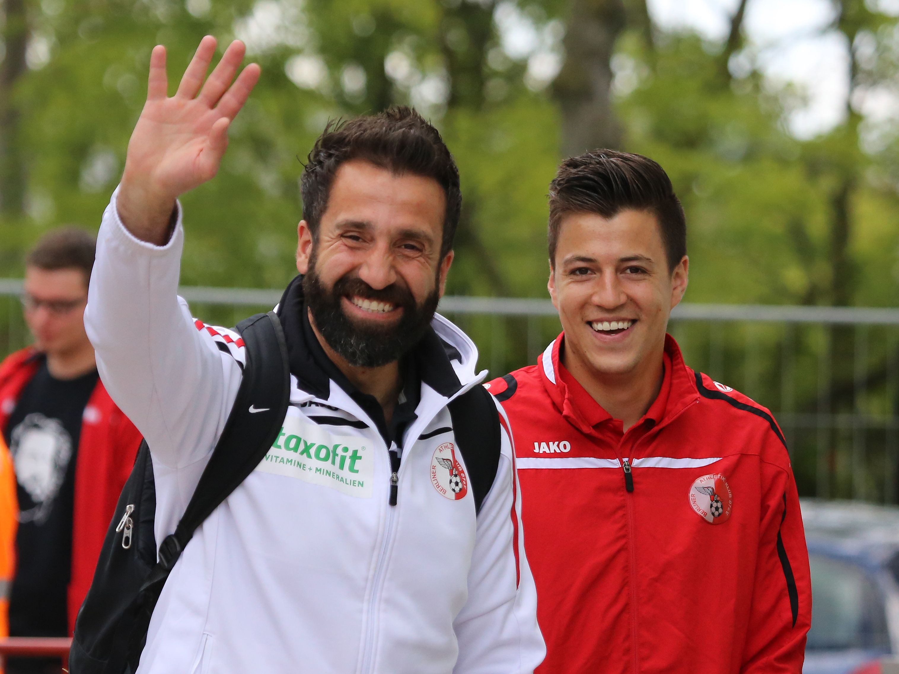 Torwarttrainer #Serkan #Mese & #Christian #Skoda in bester Laune.