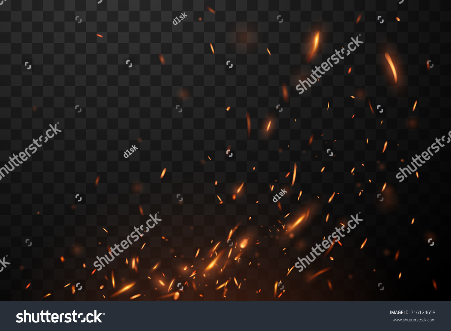 Fire Flying Sparks Spark Vector Images Royalty Free Stock Photos