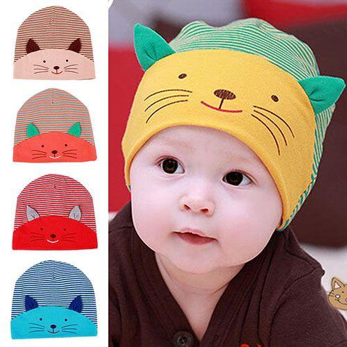 Toddler Infant Kids Sweet Baby Girls Boys Cartoon Cotton Sleep Cap Headwear Hat