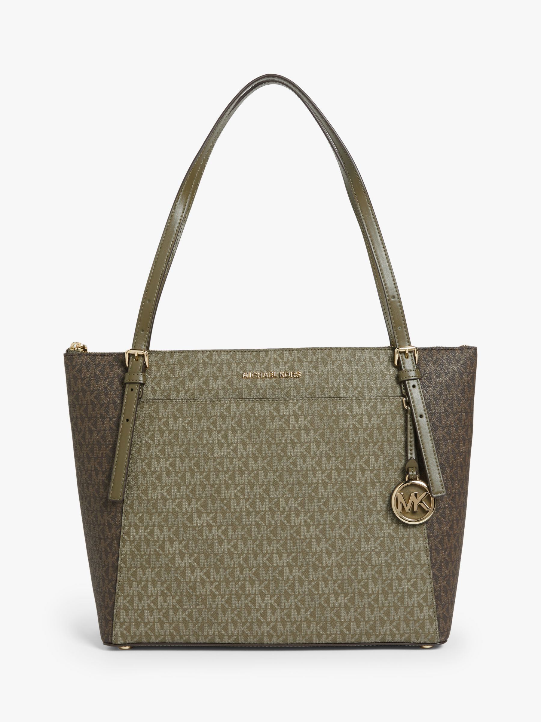 MICHAEL Michael Kors Voyager East West Signature Tote Bag Olive MICHAEL Michael Kors Voyager East West Signature Tote Bag Olive