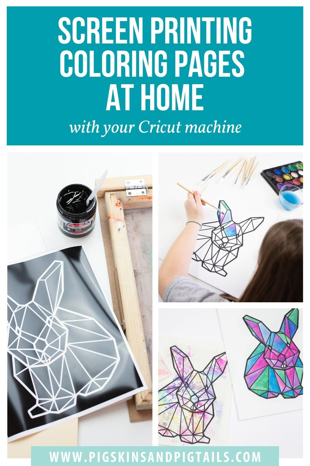 How to Screen Print Coloring Pages Using Supplies You Have