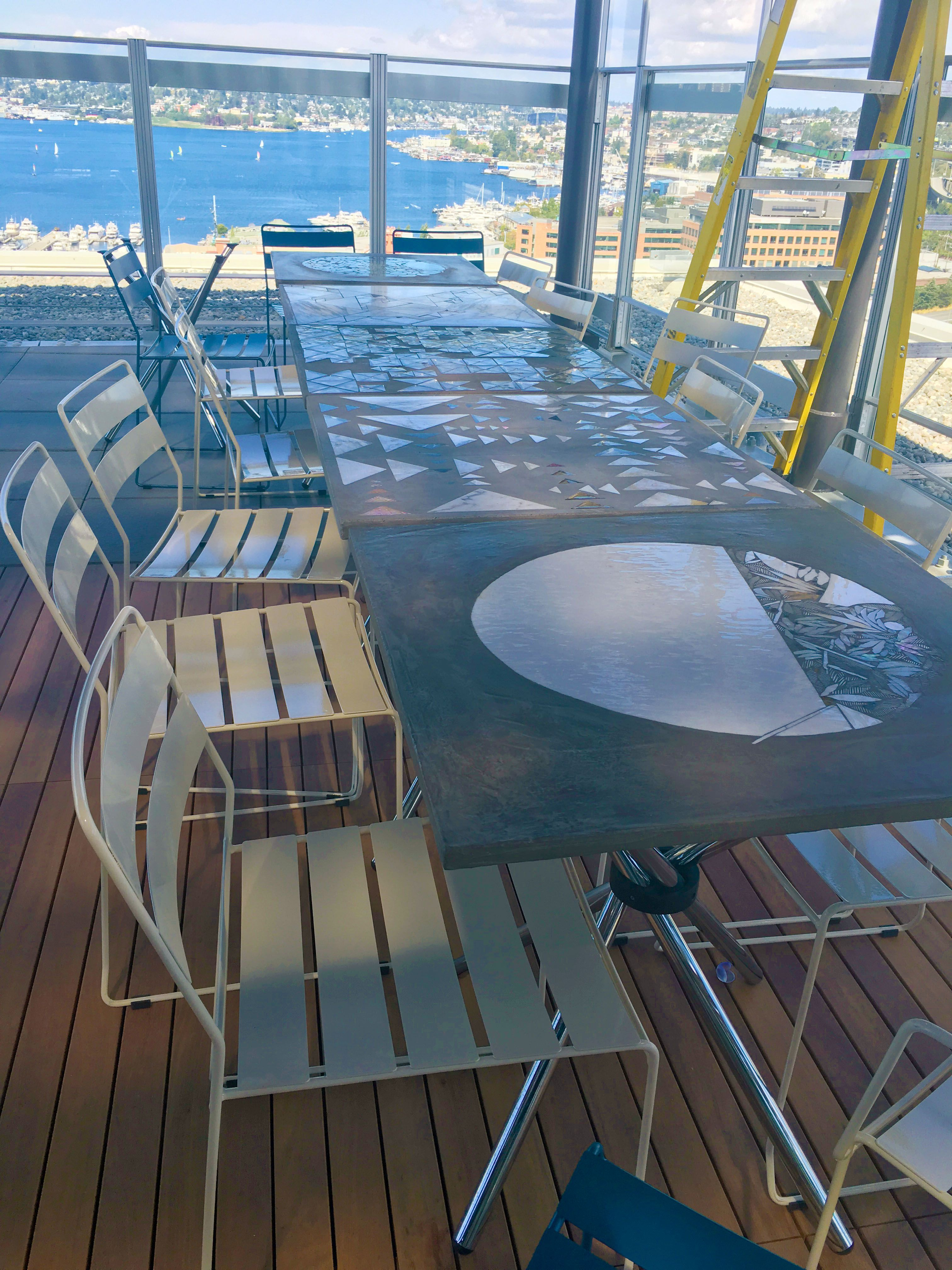 Another Photo Of The Fantastic #rooftop At MBAR, Seattle Portofino Chair,  Metal Outdoor