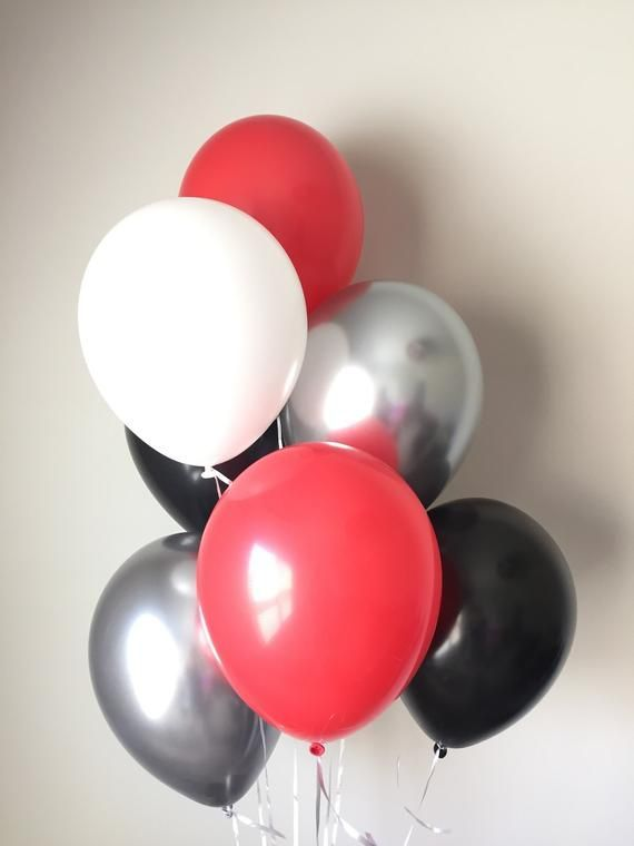Red and Black Balloons  Football Party Decor  College Football Balloons  Tailgate Party De Red and Black Balloons  Football Party Decor  College Football Balloons  Tailga...