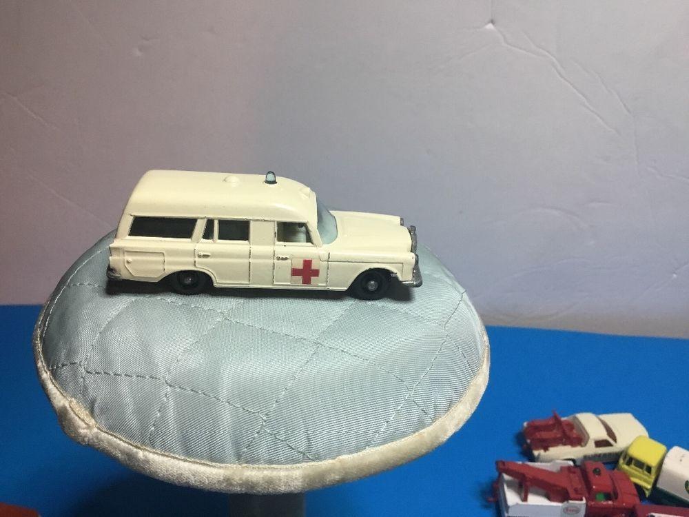 """VINTAGE 1960'S LESNEY """"MATCH BOX"""" NO.3 MERCEDES BENZ """"BINZ""""AMBULANCE EXCEL! COND #Mercedes #Binz"""