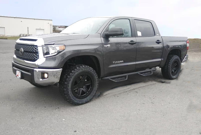 2019 Toyota Tundra 18 Inch Black Rhino Attica Wheels And Dealer Installed Tires And 3 Inch Leveling Kit 2019 Cvdauto Toyota Tundra Tundra Leveling Kit Tundra