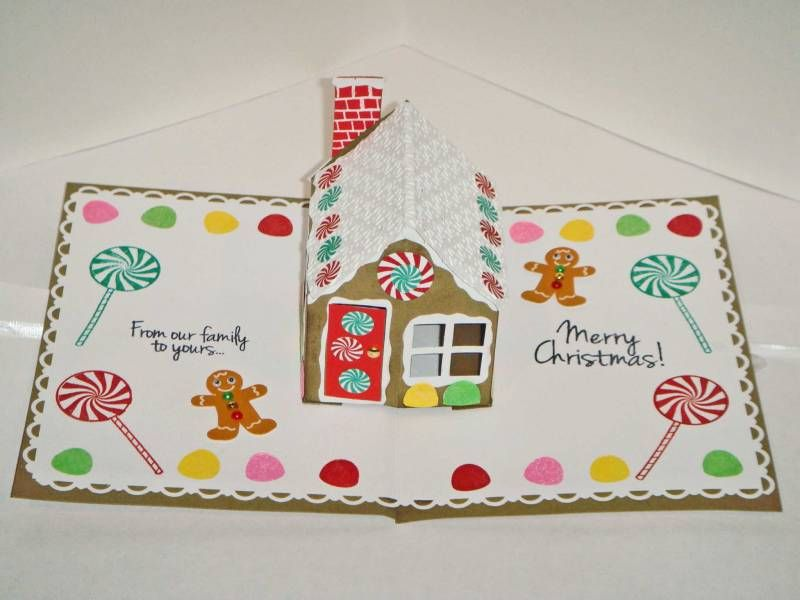 Gingerbread House Pop Up Card By Mssusy Cards And Paper Crafts At Splitcoaststampers Cards Pop Up Cards Paper Crafts