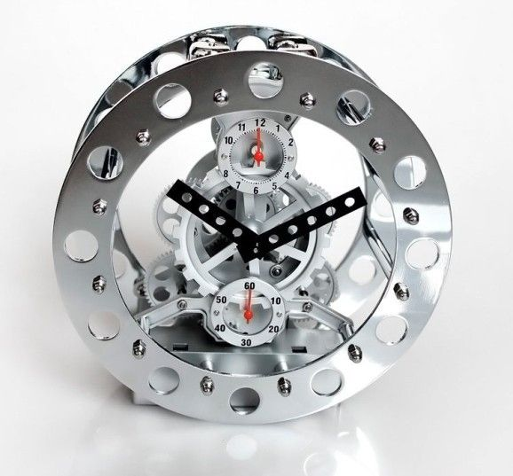 Gear Clock   Geek   Tabletop clocks, Gear clock, Mechanical