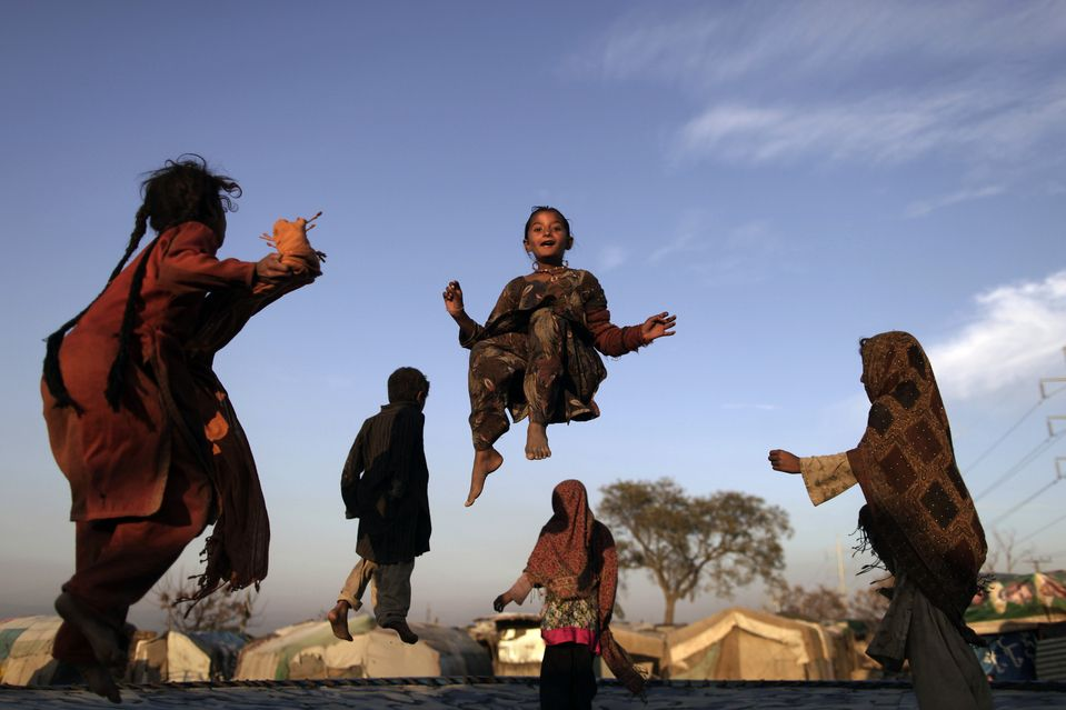 HAPPY HOPPING (Muhammed Muheisen/Associated Press)