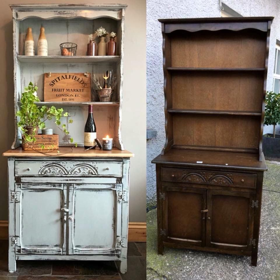 Sealing Painted Kitchen Cabinets: Anne Sloan Gray Chalk Paint, Distressed With Sandpaper And