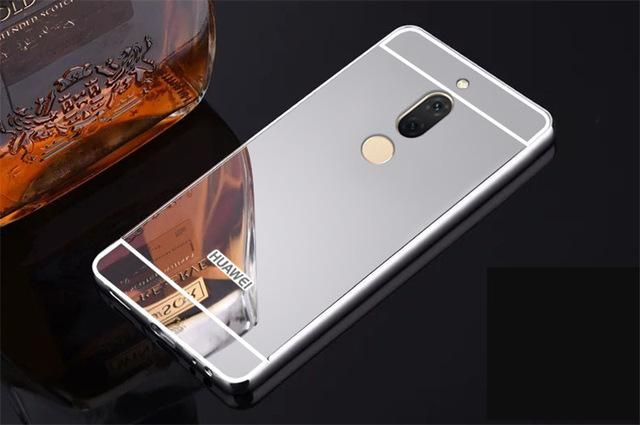 Luxury Rose Gold Mirror Case For Coque Huawei Mate 10 Lite Case